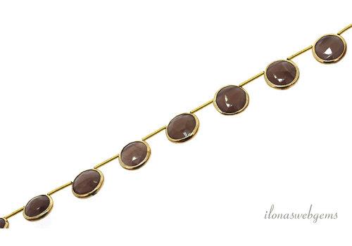 Vermeil pendants with Moonstone around 12x4mm