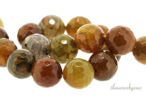 Fire Agate beads mustard around 15.5mm