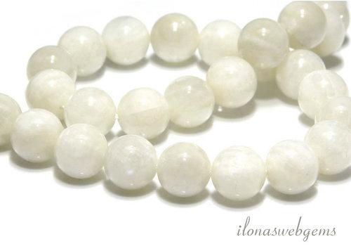 Jade kralen wit rond ca. 2