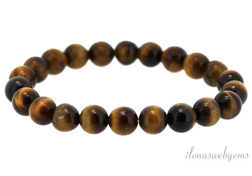 Tiger eye beaded bracelet around 8mm