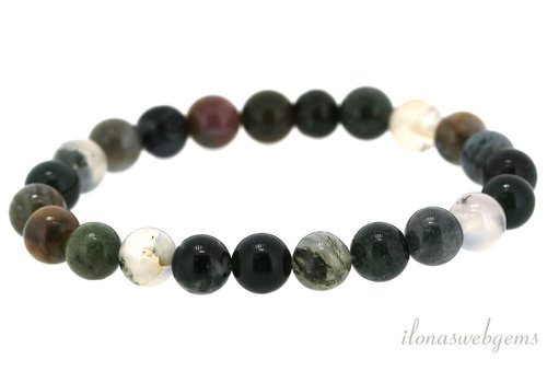 Indian Agate bracelet around ca. 8mm