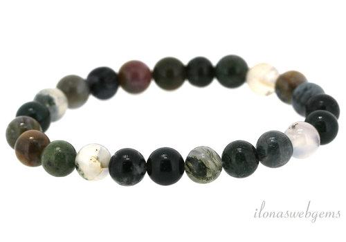 Indian Agate bead bracelet around 4mm