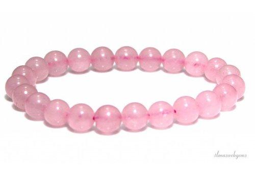 Rose quartz bead bracelet around 6mm