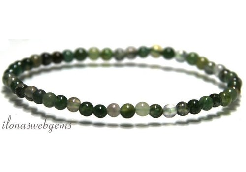 Moss Agate beaded bracelet around 8mm