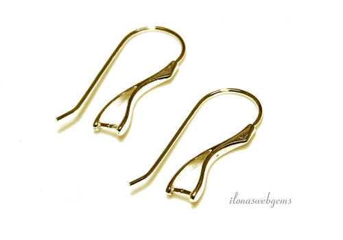 1 pair of vermeil earhooks with bail / pendant clasp