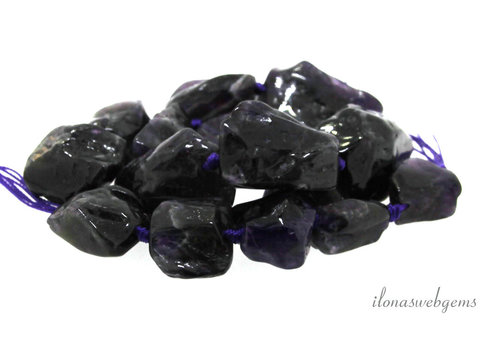 Amethyst beads around 30x18x15mm