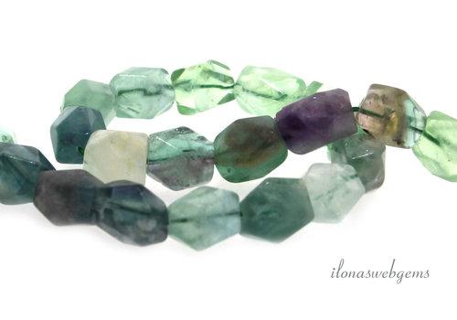 Fluorite beads soft shape around 14x10mm
