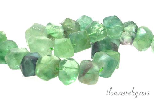 Fluorite beads soft shape around 17x12mm