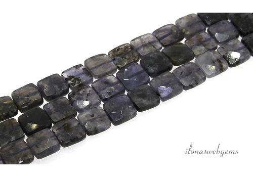 iolite bead faceted around 10x10x4mm