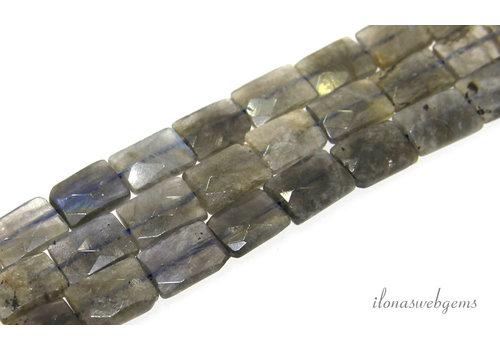 Labradorite bead faceted around 14x10x4.5mm
