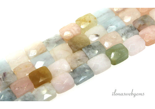 Morganite bead faceted around 11x8.5x5mm