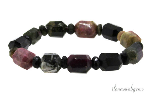 Tourmaline beaded bracelet around 15x12mm