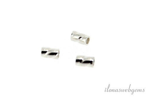 """Sterling Silber Tube Perle """"Twisted"""" um 3x2mm"""
