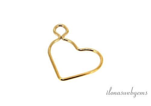 14 Karat Gold gefülltes Herz ca. 15,5 mm