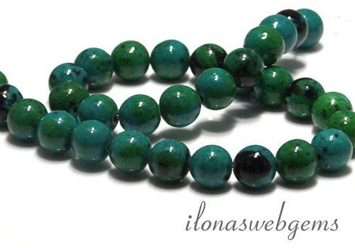 Chinese Chrysocolla beads around 10 mm