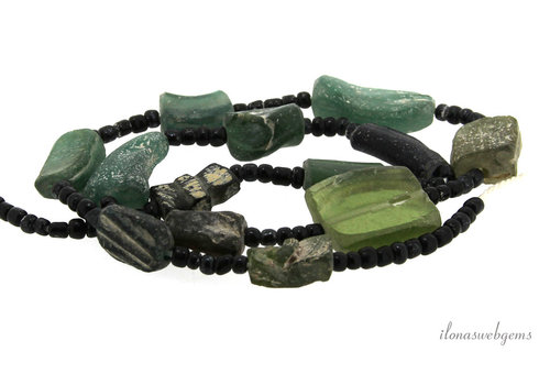 Roman glass beads around 17x12mm