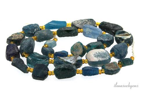 Roman glass beads around 20x12x6mm