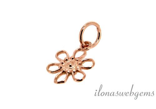 Rose Vermeil Charm Blume um 10 mm