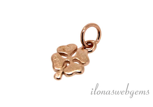 Rosé Vermeil charm four-leaf clover around 8mm