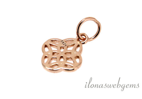 Rose Vermeil charm around 10 mm