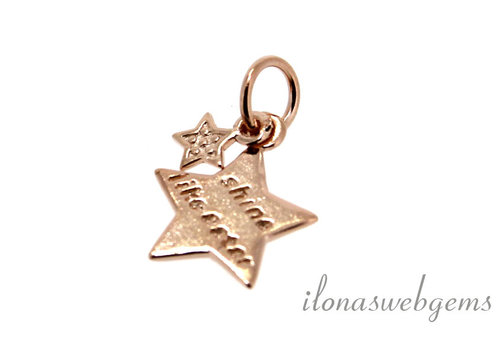 "Rose charm ""Shine like a Star"" around 11mm"