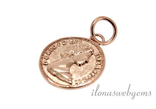 Rosé Vermeil charm about 12.5mm