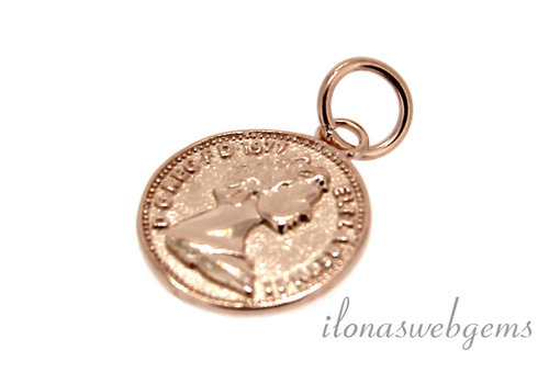 Rose Vermeil charm around 12.5 mm