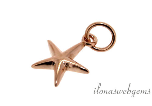 Rose Vermeil charm star around 10 mm