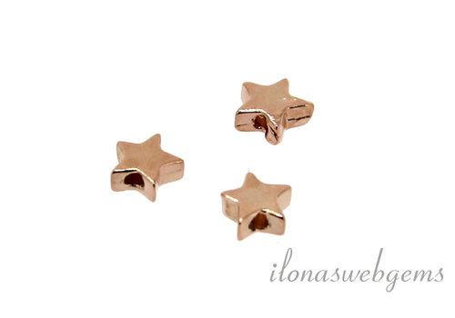 1 Rosé Vermeil kraal Star ca. 4mm