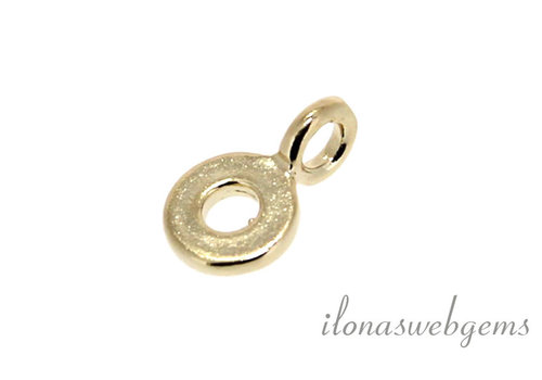 Vermeil charm around 5.8 mm