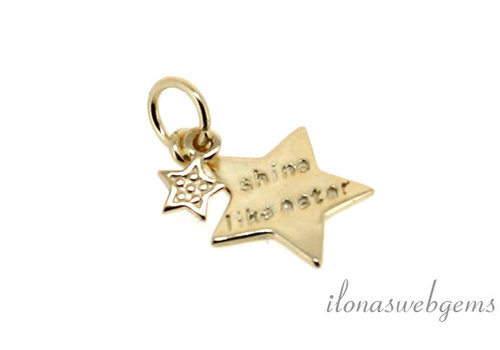"Vermeil charm ""Shine like a Star"" around 11mm"