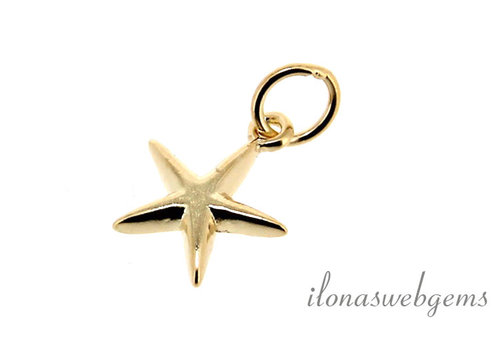 Vermeil charm star around 10 mm