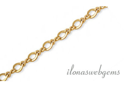 1cm 14k/20 Gold filled schakels / ketting ca. 3x2.1mm