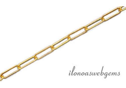1 cm 14k/20 Gold filled schakels / ketting