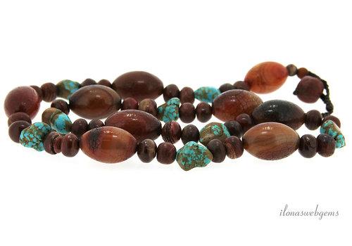 Boho beads ca. 29x19mm