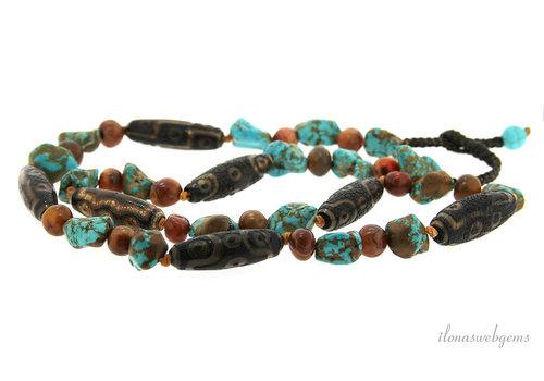 Boho beads around 39x13mm