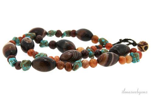 Boho beads around 29x20mm