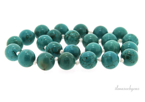 Turquoise bead necklace around 16mm