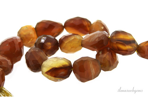 Agate beads free shape around 20x18mm