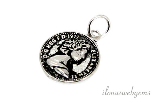Sterling silver charm around 12.5mm