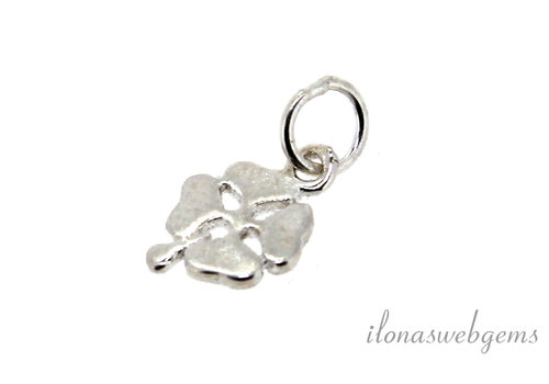 Caress silver charm four-leaf clover around 8mm