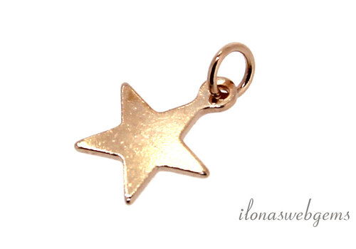 Rose Vermeil charm star around 8mm
