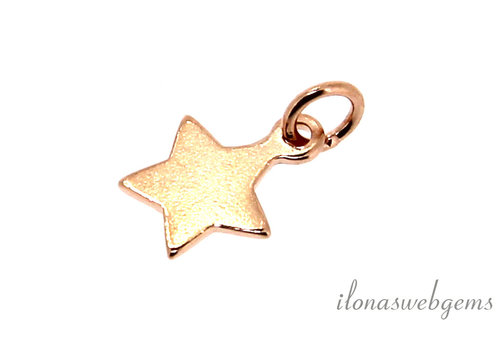 Rose Vermeil charm star around 6mm