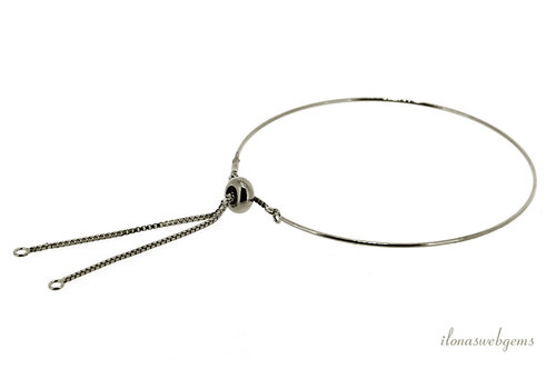 Sterling zilveren bangle minimalistisch