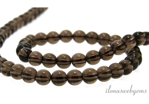 Smoky quartz beads around 6mm