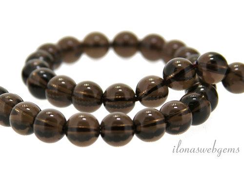 Smoky quartz beads round about 8mm