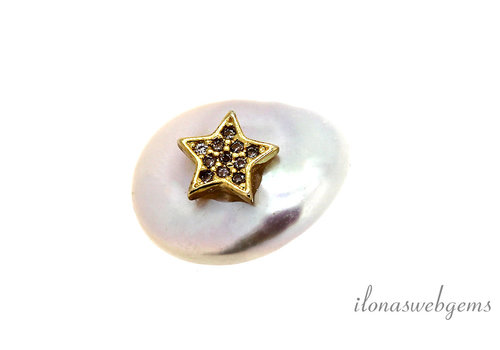 Freshwater Pearl bead coin around 18x14x4.5mm