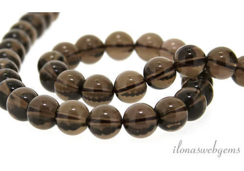 Smoky quartz beads around 10mm