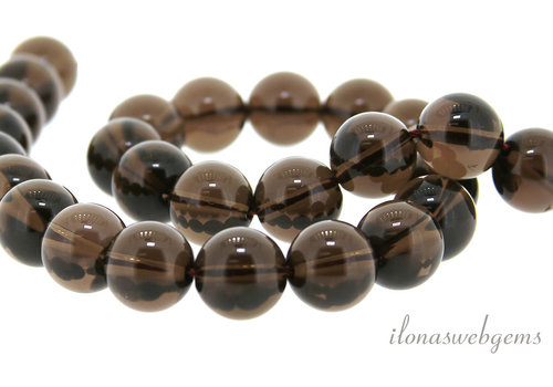 Smoky quartz beads around 12mm