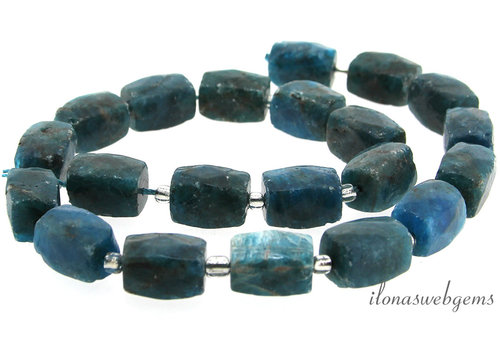 Apatite beads faceted rectangular around 15x11mm
